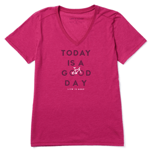 Life is Good Women's Good Day Bike T-Shirt