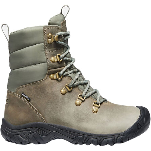 Keen Greta Waterproof Boot - Timberwolf / Dusty Olive