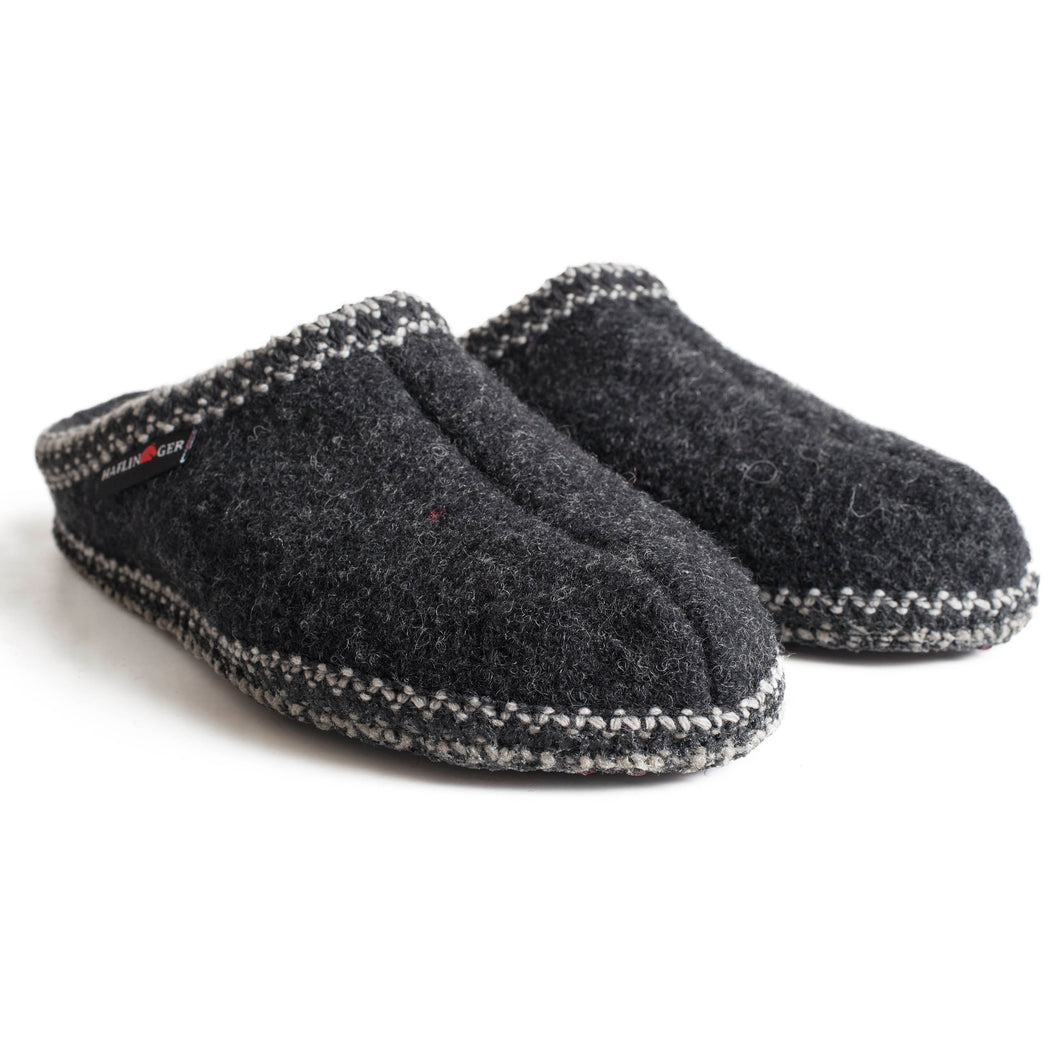 Haflinger AS Wool Slipper - Charcoal