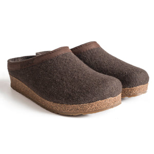 Haflinger GZL Wool Clog - Brown
