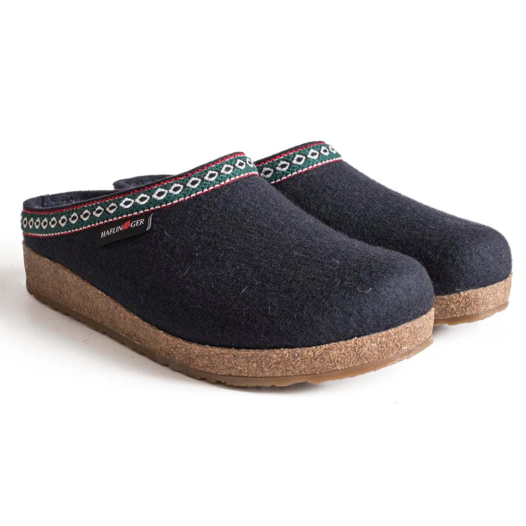 Haflinger GZ Wool Clog - Blue