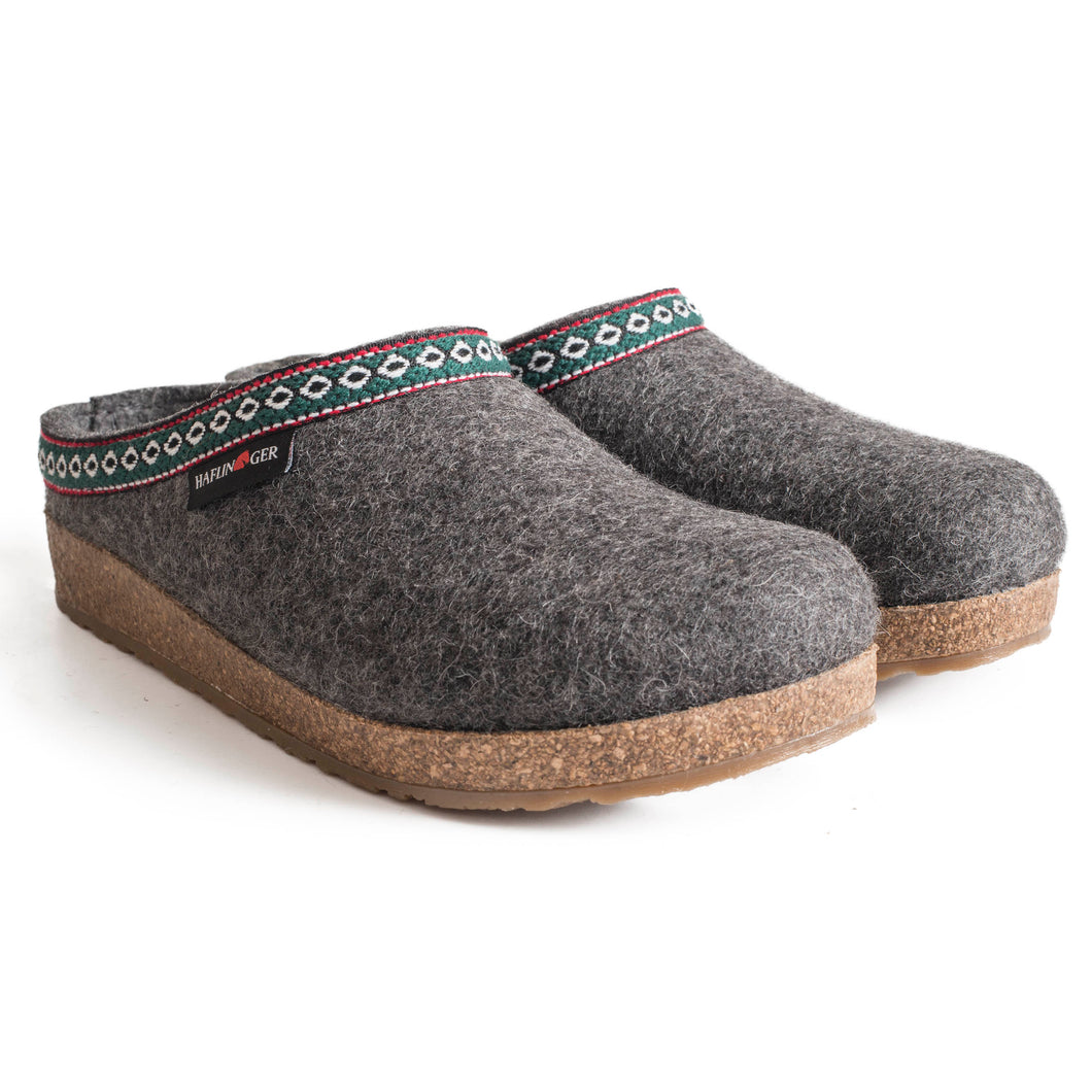 Haflinger GZ Wool Clog - Grey