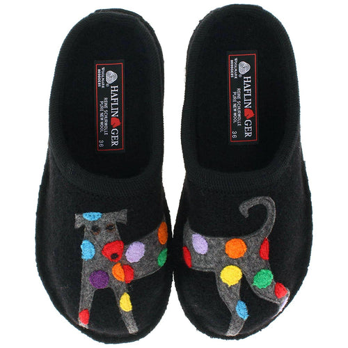 Haflinger Jack Slipper - Black
