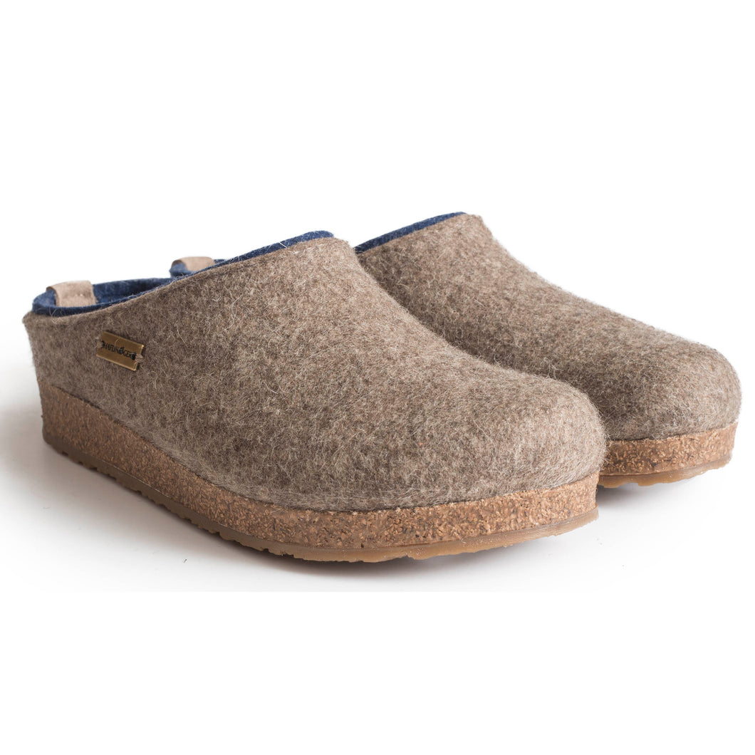 Haflinger Kris Wool Clog - Earth