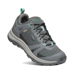 Keen Terradora II Waterproof Hiking Shoe - Steel Grey / Ocean Wave Tipped