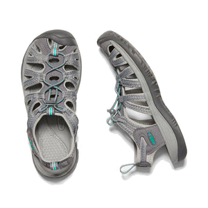 Keen Whisper Sandal - Medium Grey / Peacock Green Pair