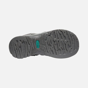 Keen Whisper Sandal - Medium Grey / Peacock Green Sole