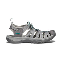 Keen Whisper Sandal - Medium Grey / Peacock Green