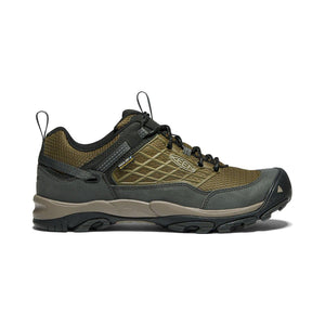 Keen Saltzman Waterproof Hiking Shoe - Dark Olive / Black