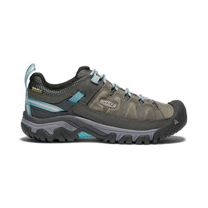Keen Targhee III Waterproof Hiking Shoe - Alcatraz / Blue Turquoise