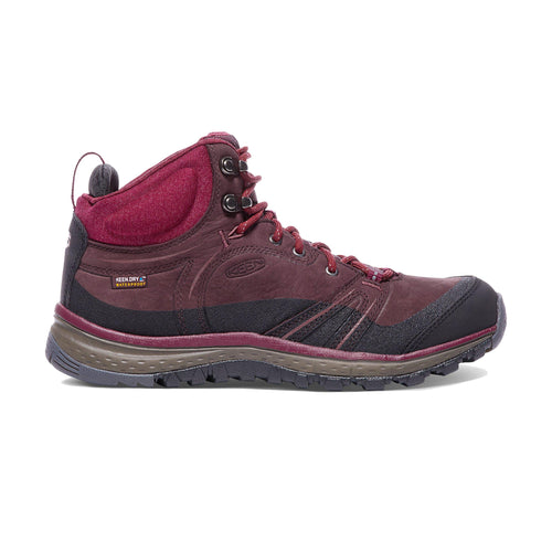 Keen Terradora Leather Waterproof Hiking Mid Boot - Wine / Rhododendron