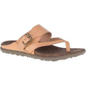 Merrell Around Town Luxe Buckle Thong Sandal - Natural Tan