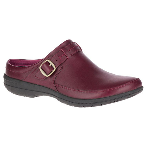 Merrell Encore Kassie Buckle Leather Clog - Beet Red