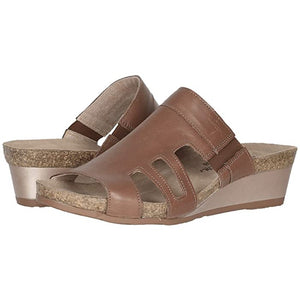 Naot Carriage Sandal - Mocha Rose Leather pair