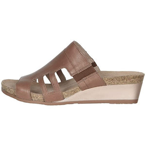 Naot Carriage Sandal - Mocha Rose Leather side
