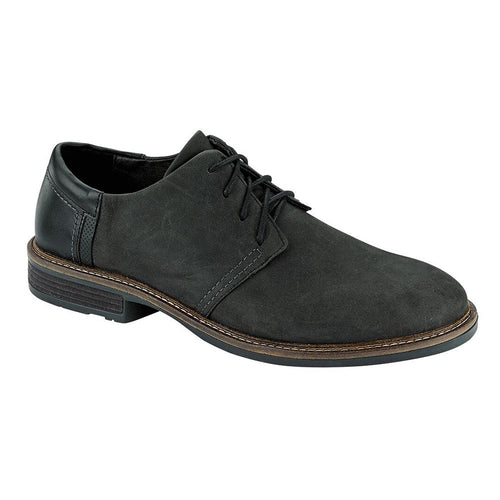 Naot Chief Dress Shoe - Oily Coal Nubuck/Black Raven/Onyx