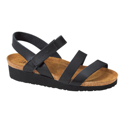 Naot Kayla Sandal - Black Matte Leather