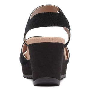 Vionic Astrid II Wedge Sandal - Black back