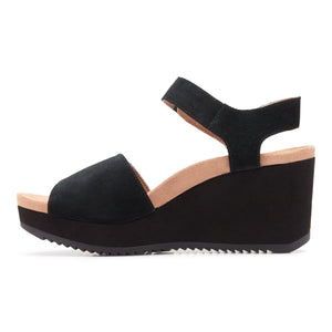 Vionic Astrid II Wedge Sandal - Black side