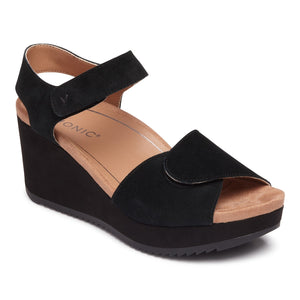 Vionic Astrid II Wedge Sandal - Black