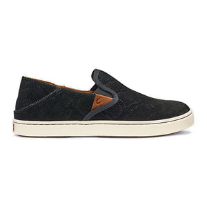 OluKai Pehuea Leather - Black Honu / Black