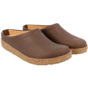Haflinger Phillip Leather Clog - Smokey Brown