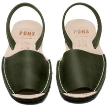 Pons Classic Sandal - Forest Green pair