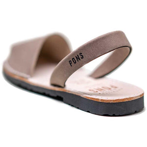Pons Classic Sandal - Taupe back