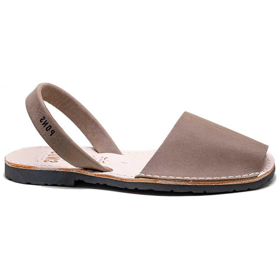 Pons Classic Sandal - Taupe Side