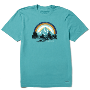 Life is Good Retro Bear Landscape T-Shirt