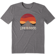 Life is Good Retro Sunset Hike T-Shirt