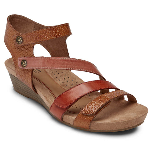 Rockport Cobb Hill Hollywood 4 Strap Sandal - Tan Multi