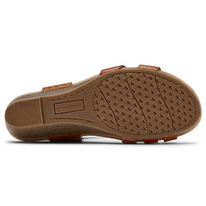 Rockport Cobb Hill Hollywood 4 Strap Sandal - Tan Multi Sole