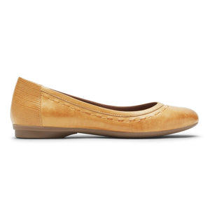 Rockport Cobb Hill Maiika Ballet Flat - Amber Yellow Side