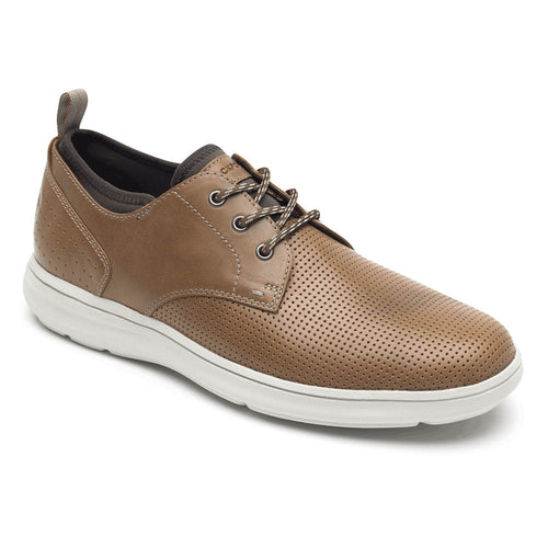Rockport Zaden Plain Toe Oxford - Boston Tan Perforated Leather