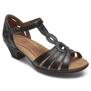 Rockport Cobb Hill Abbott Curvy Strap Sandal - Black