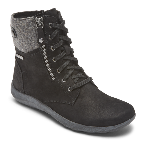 Rockport Amalie Waterproof Lace up Boot - Black