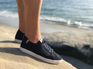 Saola Cannon Knit Sneaker - Navy lifestyle 2