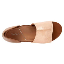 Sava Calera Sandal - Rose Gold / Saddle top