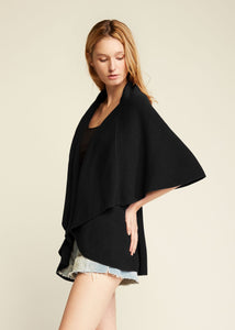 Look by M Basic Shawl Vest Black
