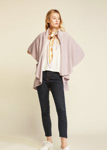 Look by M W Basic Shawl Vest Lavender