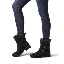 Sorel Phoenix Moto Cozy Boot - Black on Woman