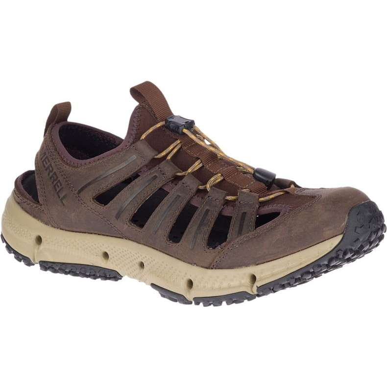 Merrell Hydrotrekker Leather Sandal - Seal Brown