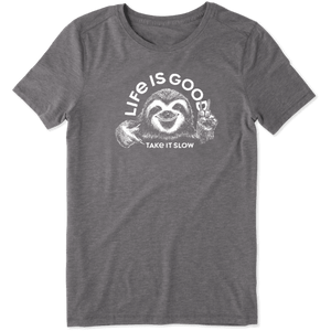 Life is Good Women's Take it Sloth T-Shirt