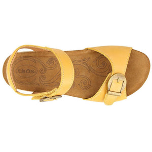 Taos Vera Sandal - Golden Yellow top