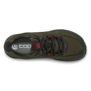 Topo Athletic Terraventure 2 Trail Shoe - Olive / Red Top