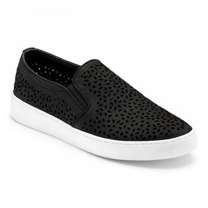 Vionic Midi Perf Slip-On Sneaker - Black