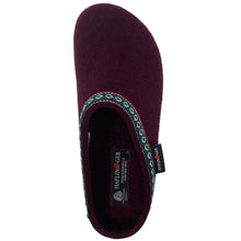 Haflinger Wool Clog - Bordo