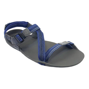 Xero Shoes Z-Trek Sandal - Charcoal / Multi-Blue