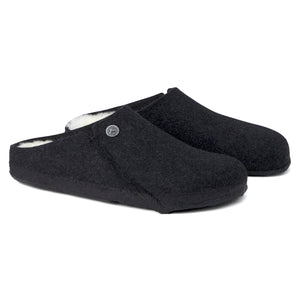 Birkenstock Zermatt Shearling Slipper - Anthracite / Natural
